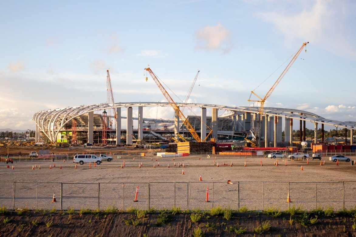 The NFL franchise team the LA Rams now build a stadium in the heart of the Black Inglewood community. Now prices skyrocketed in the area.